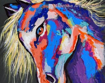 "Fine Art Print  ""Abstract Horse""   Print by Napolske Art Painting"