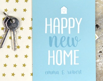 Personalised happy new home card