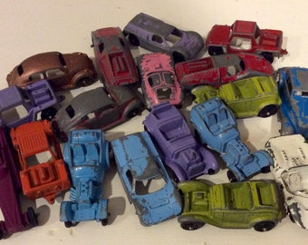 18 Vintage Tootsie Toy Metal Cars, Tootsie Toy Cars, Vintage Miniature Toy Cars, Collectible Toy Cars, Tootsie Cars, Vintage Toy Cars, Cars