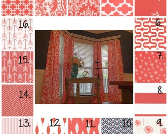 Coral Curtain Panels Coral Nursery Curtains Coral Arrow Nursery Curtains Coral Feather Curtains Coral Stripe Curtains Coral Dandelion