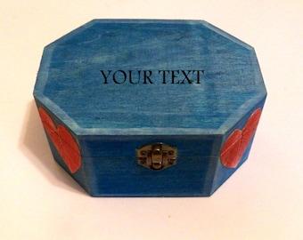 Blue Box, Blue Jewelry Box, Jewelry Boxes Women, Custom Happy Birthday Box, Boho Jewelry Box, Friends Box, Unique Jewelry Box, Original Box