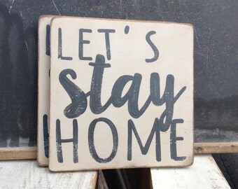 stay home - charcoal