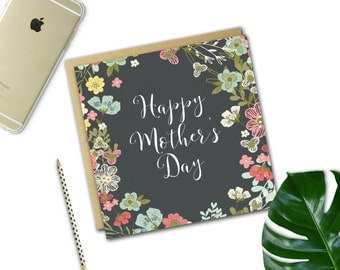 Mother's Day Card {DARK FLORAL}