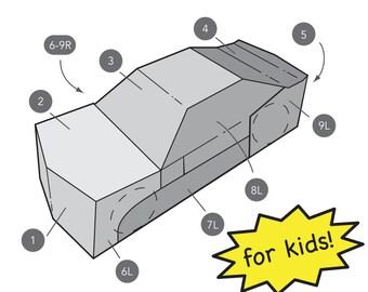 Transforming Car Costume for Kids