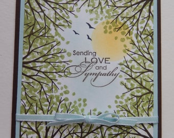 Up Through the Trees Sympathy Card