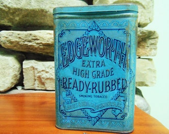 Vintage Edgeworth Extra High Grade, Ready-Rubbed, Tobacco Tin, Larus and Bro Co, Cannister