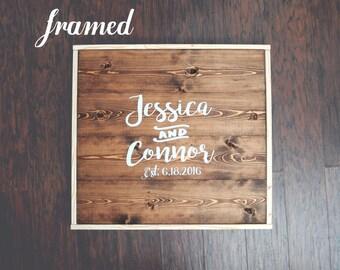 Wedding Guest Book Sign FRAMED Custom Wooden Guest Book Sign Rustic Guestbook Signature Sign Guest Book Alternative Rustic Wall Art
