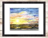 Reserved for Amanda - A New Beginning Art Print | Sunrise Art | Sky Art | Ocean Art | Sunset Landscape | Ocean Landscape | Colorful Art