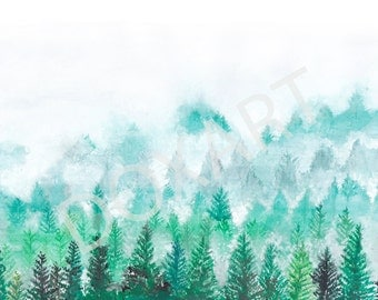 Pine Forest Print