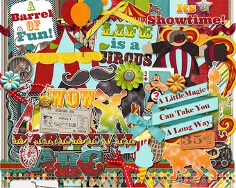 Life Is A Circus Digital Scrapbook Kit