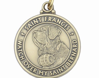 Saint Bernard Saint Francis Dog Tag