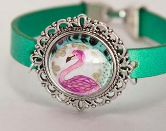 FLAMINGO bracelet with illustration
