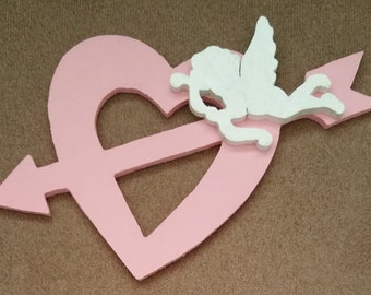 Baby Pink Cupid Heart