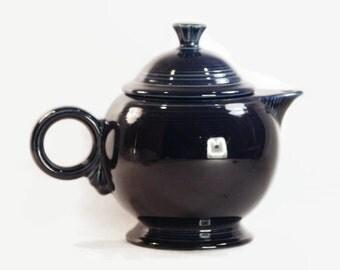 Cobalt Blue Fiestaware Teapot 44 Ounces Vintage Homer Laughlin