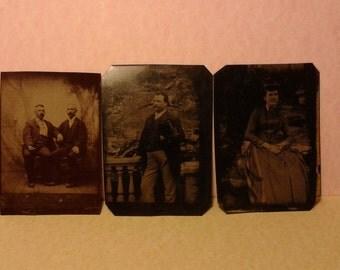 Three tintype photos