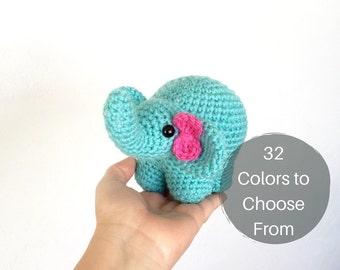 stuffed elephant | stuffed animal | crochet elephant | knit elephant | baby shower present | amigurumi elephant | soft toy |