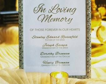 Memorial Sign - your choice of printed or digital