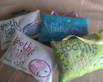 Childs' tooth fairy pillow