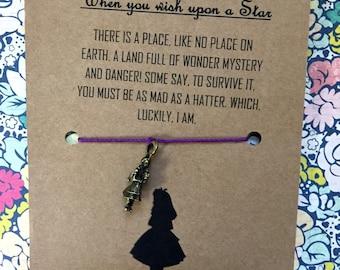 Alice in Wonderland Wish Bracelet