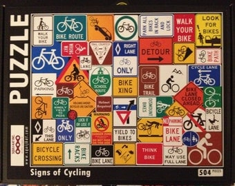 Bicycle Puzzle - Signs of Cycling!