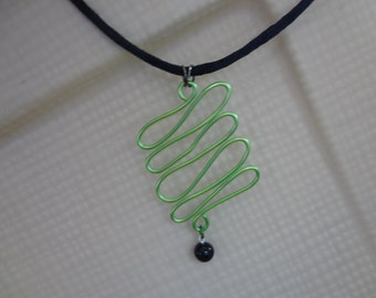 Wire Serpent Pendant Necklace