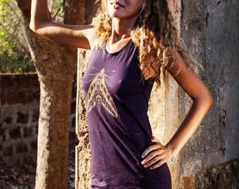 Butterfly moth Dress in purple,Tank top dress,Summer dress,LIGHT COTTON DRESS,Size S,M