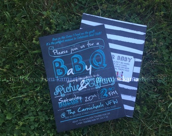 Baby Q Baby Shower Invite with Envelope