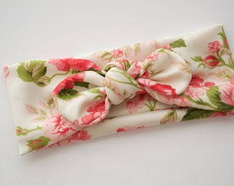 Spring Shabby Floral Tie