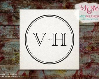 SALE 30% off - Wedding monogram, Wedding logo, Monogram design, Custom Monogram, circle monogram, infinite monogram, monogram