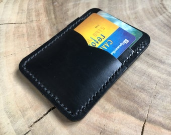 Money clip wallet leather Card holder slim Money clip personalized Black money clip Thin leather wallet Minimal leather wallet mens gift