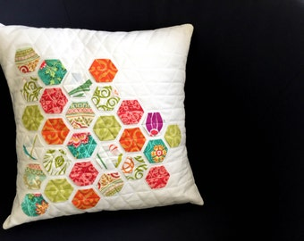 Hexagon patchwork Cushion cover