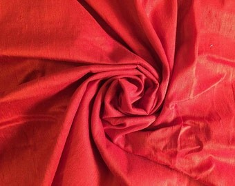 Red Dupioni Silk by the Yard or Half-Yard