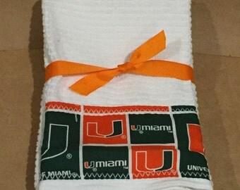 University of Miami Hand Towels