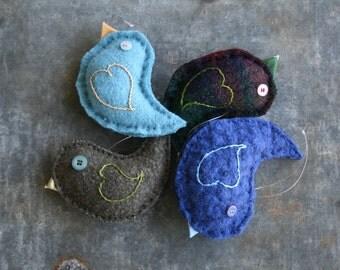 Felted Wool Bird Ornament/Bowl Filler