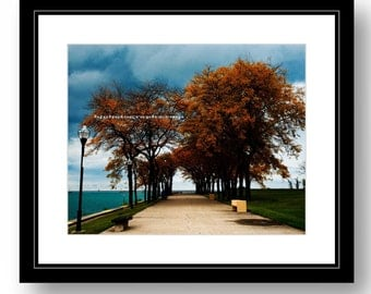 Fall in Chicago, color photograph, Chicago photography, office, home decor