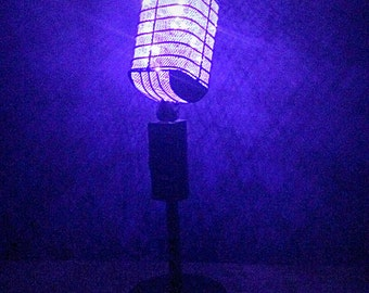 Vintage Microphone Lamp battery operated