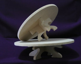 """10"""" wide cake stand made of MDF wood"""