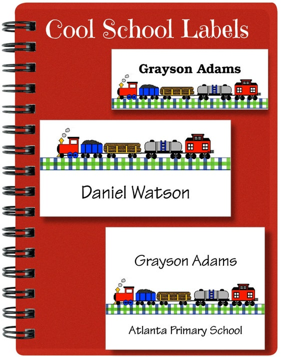 Train Stickers, School Labels, Back to School, Train, Personalized Stickers, Personalized Labels, Train Labels, Labels, Tags