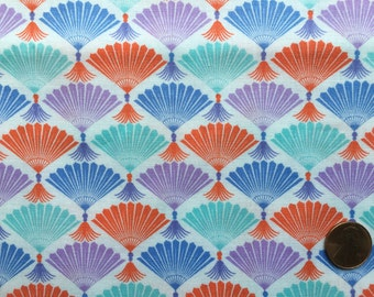 Half Yard - Good Fortune by Kate Spain for Moda - 27103-11 - Multicolor Fans