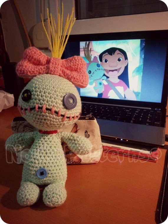 Free Amigurumi Scrump Pattern : Scrump the Voodoo Doll Lilo and Stitch Crochet by ...