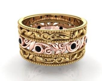 Wedding Band, Diamond Bands, Engagement Rings, Bohemian Wedding Band, Eternity Band, Romantic Wedding Rings