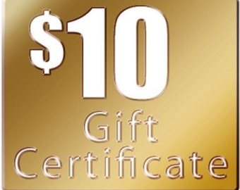 Gift Certificate, 10 Dollars