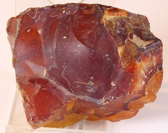 Beautiful Deep Red And Amber Carnelian Agate