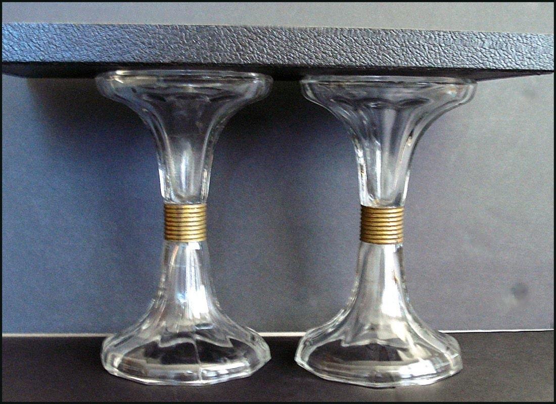 antique glass shelf support sets stands display country. Black Bedroom Furniture Sets. Home Design Ideas