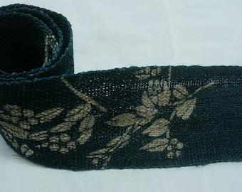 Japanese indigo KATAZOME dyed blue table center hemp fabric 002