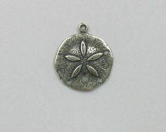 Sterling Silver 3-D Sand Dollar Charm