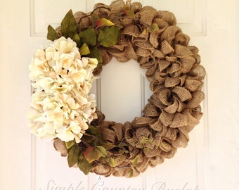 "22"" buralp wreath, easter Wreath, easter gift, red burlap wreath, spring burlap wreath, country wreath, wedding gift"