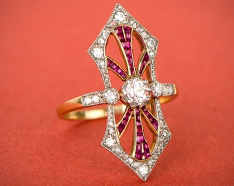 Antique Edwardian Diamond Ring. Circa 1900.