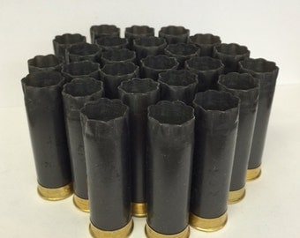"Empty Shotgun Shells 25 Lot Gray Winchester AA with Gold Base 2.75"" 12 Gauge"