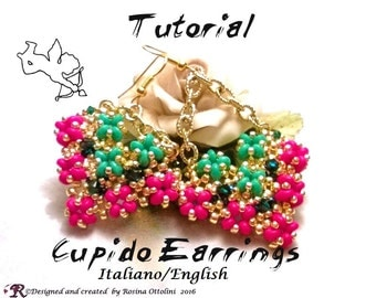 Cupid Earrings (Tutorial graphics images step by step in Italian or English)